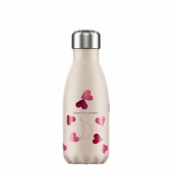 Chilly's ανοξείδωτο μπουκάλι Θερμός 260ml,  Pink Hearts, Emma Bridgewater
