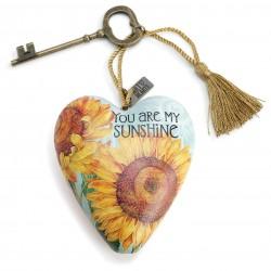 """Διακοσμητική καρδιά της Demdaco """"You are my sunshine"""""""