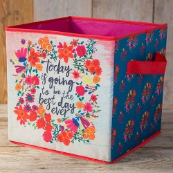 """Κουτί αναδιπλούμενο αποθηκευτικό της Natural Life """"Best day ever"""""""