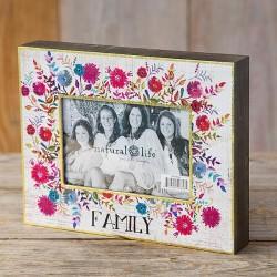 """Κορνίζα ξύλινη της Natural Life """"Family"""""""