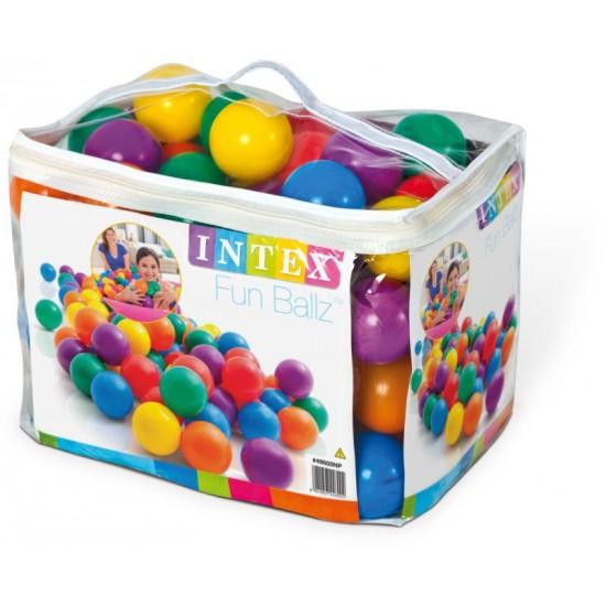 Intex Fun Ballz 100 Μπαλάκια με τσάντα μεταφοράς