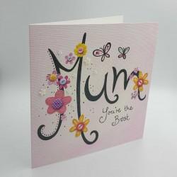 """Κάρτα """"Mum you are the best"""" για τη γιορτή της μητέρας"""