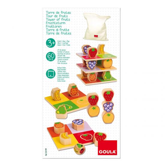 Goula Πύργος με φρούτα - Αισθητηριακό παιχνίδι ισορροπίας