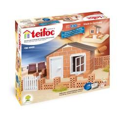 """Teifoc κατασκευή με πραγματικά τουβλάκια """"Καλοκαιρινό Σπίτι"""""""