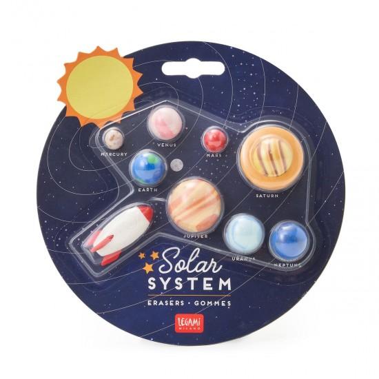 Legami Σετ 9 γόμες- Ηλιακό Σύστημα