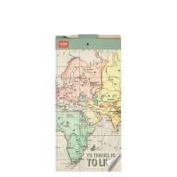 """Μπλοκ σημειώσεων μαγνητικό της  Legami """"To travel is to live"""""""