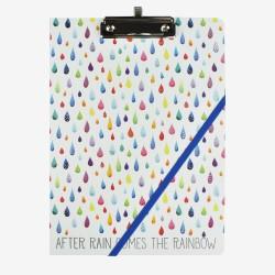"""Μπλοκ σημειώσεων φάκελος της Legami """"After rain comes the rainbow'"""
