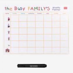 """Μαγνητικός πίνακας της Legami """"The busy Family's"""""""