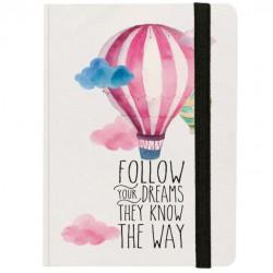 """Σημειωματάριο με λάστιχο της Legami """"Follow your dreams they know the way"""""""