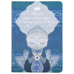 """Σημειωματάριο Little Buddha """"The only impossible journey is the one you never begin"""""""