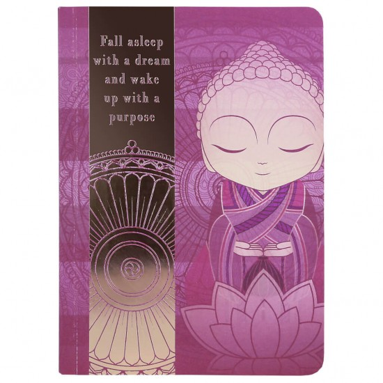 """Σημειωματάριο Little Buddha """"Fall asleep with a dream and wake up with a purpose"""""""