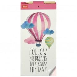 """Μπλοκ σημειώσεων μαγνητικό της  Legami """"Follow your dreams they know the way"""""""