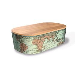 "Lunch box ""Around the world"" , φαγητοδοχείο από οργανικό bamboo TUV certified"