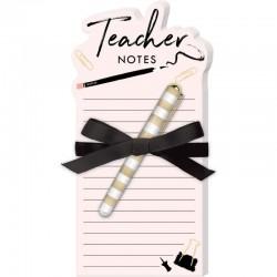 """Μπλοκ σημειώσεων με στυλό """"Δασκάλα"""""""