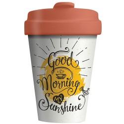 """Ποτήρι bamboo Chic Mic """"Good morning my Sunshine"""" βιοδιασπώμενο μπαμπού TUV certified"""
