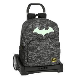 """Τσάντα δημοτικού με τρόλευ της Safta """"Batman"""" 32x14x43 εκ."""