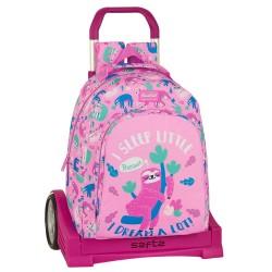 """Τσάντα δημοτικού με τρόλευ της Safta """"Sloth"""" 32x15x43 εκ."""