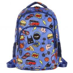 """Τσάντα πλάτης δημοτικού Fringoo """"Doodle Boy"""" 30X18X44 εκ."""