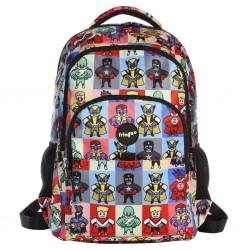 """Τσάντα πλάτης δημοτικού Fringoo """"Superheroes"""" 30X18X44 εκ."""
