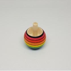 Μαγική σβούρα Rainbow ξύλινη που γυρνά ανάποδα