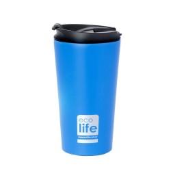 ecolife ποτήρι Θερμός για καφέ 370ml Μπλε ματ