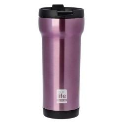 ecolife ποτήρι Θερμός για καφέ 420ml μωβ