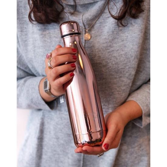 Chilly's ανοξείδωτο μπουκάλι Θερμός 500ml, Chrome Rose Gold