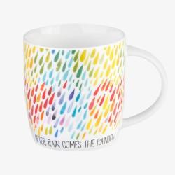 """Κούπα πορσελάνινη της Legami """"After rain comes the rainbow"""""""