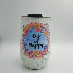 """Κούπα ανοξείδωτη της Natural Life """"Cup of Happy"""""""
