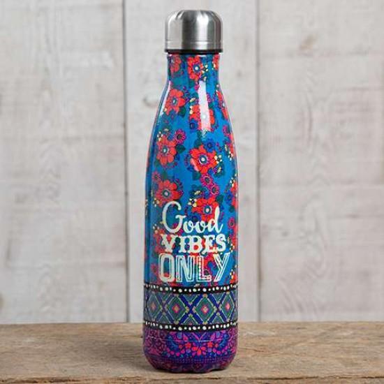"""Μπουκάλι θερμός της Natural Life 500 ml """"Good Vibes Only"""""""