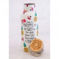 """Μπουκάλι θερμός της Natural Life """"Live a Pineapple Life"""""""