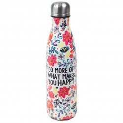"Μπουκάλι θερμός της Natural Life ""Do more of what makes you happy"" 500ml"