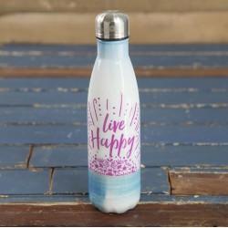 """Μπουκάλι θερμός της Natural Life """"Live happy"""""""