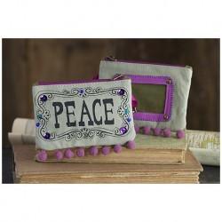 """Τσαντάκι πορτοφολάκι της Natural Life """"Peace"""""""