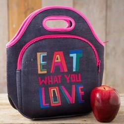 """Τσάντα ισοθερμική της Natural Life από neoprene """"Eat what you love"""""""