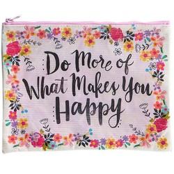 """Τσαντάκι της Natural Life από ανακυκλωμένα μπουκάλια """"Do more of what makes you happy"""""""