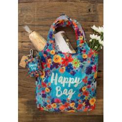 """Τσάντα αναδιπλούμενη για ψώνια της Natural Life """"Happy bag"""""""