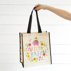 """Τσάντα δώρου μεγάλη της Natural Life """"Welcome baby"""""""