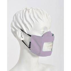 Μάσκα με διαφάνεια για αποτελεσματική επικοινωνία, ενηλίκων, ιδανική για δασκάλες και λογοθεραπευτές, λιλά