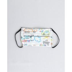 Παιδική μάσκα με ρινικό έλασμα 100% βαμβάκι OEKO-TEX  χρωματιστό τετράδιο, Notebook